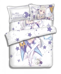 Emilia - Anime 4pcs Bedding Sets Bed Sheets